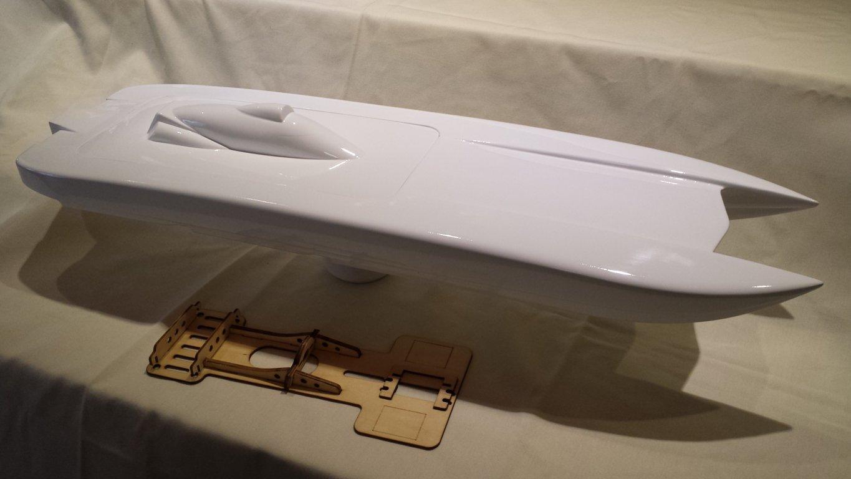 RC+Catamaran+Hulls Epoxy fiberglass 33 inch RC Catamaran