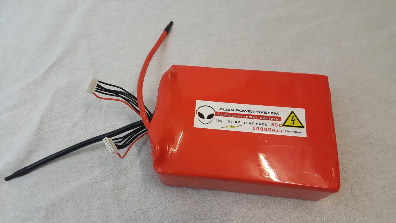 Alien 10S 10000mah 35C Lipo Battery flat configuration