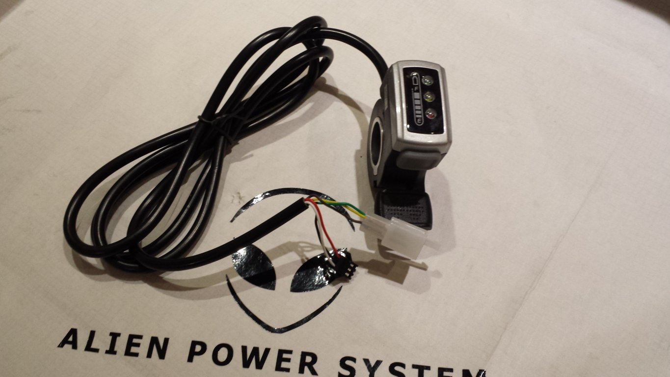 Electric Thumb Throttle 1 4v Hall Effect With Switch And Battery